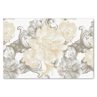 Vintages viktorianisches beige Blumenrebemuster Seidenpapier
