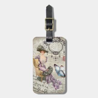 Vintages viktorianisches des schäbigen gepäckanhänger