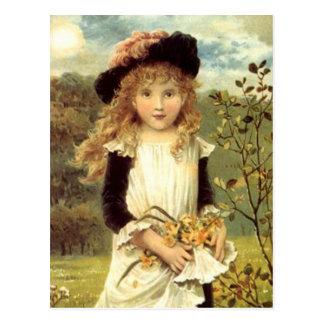 Vintages viktorianisches postkarte