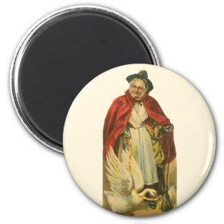 Vintages viktorianisches runder magnet 5,1 cm