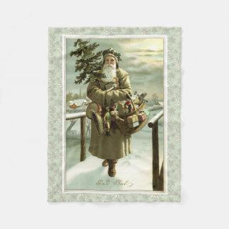 Vintages viktorianisches Schwede Weihnachtsmann Fleecedecke