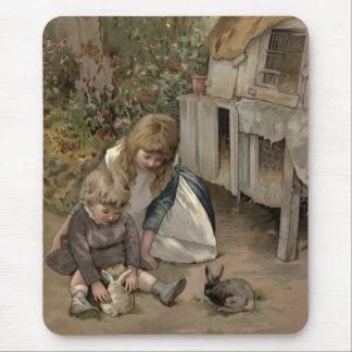 Vintages viktorianisches u. niedlich: Kinder u. Mousepad