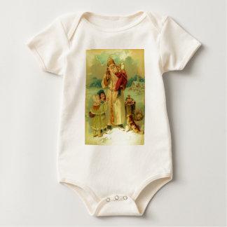 Vintages viktorianisches Weihnachten Baby Strampler