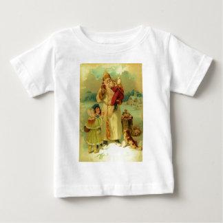 Vintages viktorianisches Weihnachten Baby T-shirt