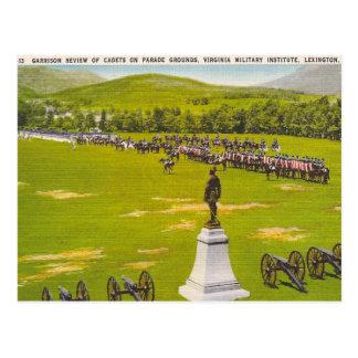 Vintages Virginia-Militär leitet ein Postkarte