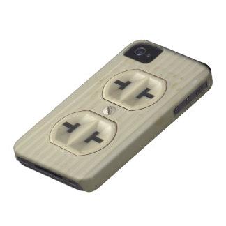 Vintages Wand-Sockel-BlackBerry-mutiger Kasten iPhone 4 Case-Mate Hülle