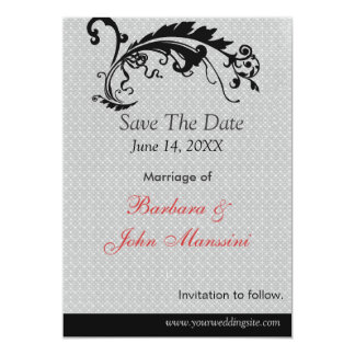 Vintages Wedding Save the Date Karte
