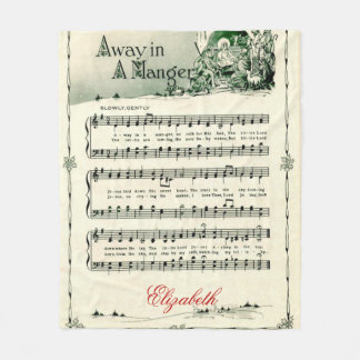 """Vintages Weihnachten Carol, """"weg in einer Krippe"""", Fleecedecke"""