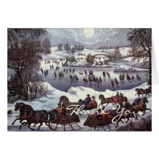 Vintages Weihnachten danken Ihnen Karte