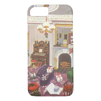 Vintages Weihnachten, das Geschenke im Wohnzimmer iPhone 8/7 Hülle