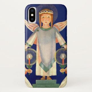 Vintages Weihnachten, Engel Skandinavier-Sankt iPhone X Hülle