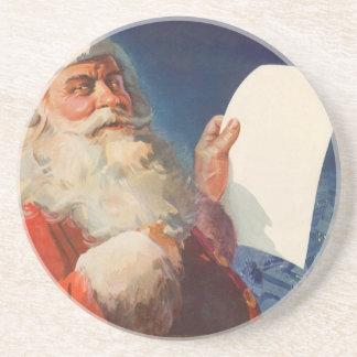 Vintages Weihnachten, freche Nizza Liste Untersatz