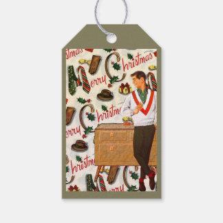 Vintages Weihnachten für ihn Geschenkanhänger