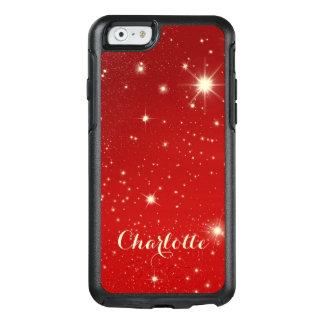 Vintages Weihnachten, glänzende Sterne in der OtterBox iPhone 6/6s Hülle
