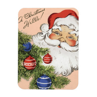 Vintages Weihnachten hallo! Lustiger Magnet