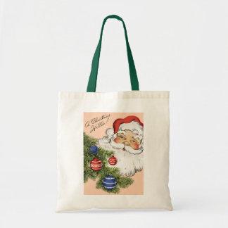 Vintages Weihnachten hallo! Lustiger Tragetasche