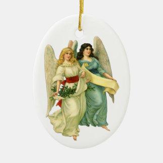Vintages Weihnachten, himmlische viktorianische Keramik Ornament