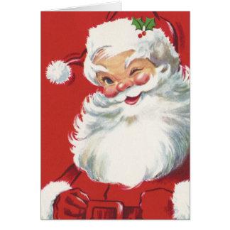 Vintages Weihnachten, lustiger blinzelnder Karte