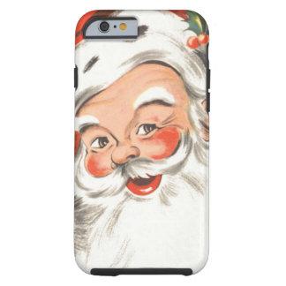 Vintages Weihnachten, lustiger Weihnachtsmann mit Tough iPhone 6 Hülle