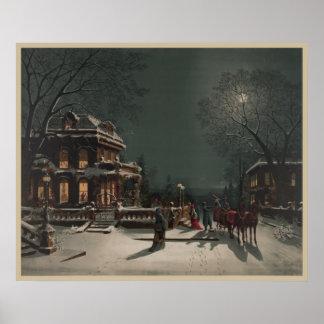 Vintages Weihnachten Posterdrucke