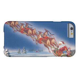 Vintages Weihnachten, Ren Sankt-Fliegensleigh-w Barely There iPhone 6 Hülle