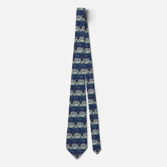 Vintages Weihnachten, Schnee-Engel, der mit einem Individuelle Krawatte