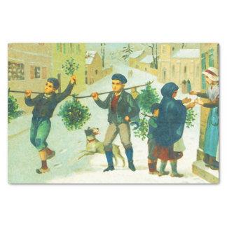 Vintages Weihnachten Seidenpapier