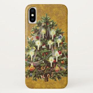 Vintages Weihnachten, verzierter viktorianischer iPhone X Hülle