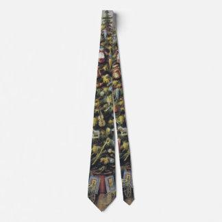 Vintages Weihnachten, viktorianische Familie um Bedruckte Krawatte