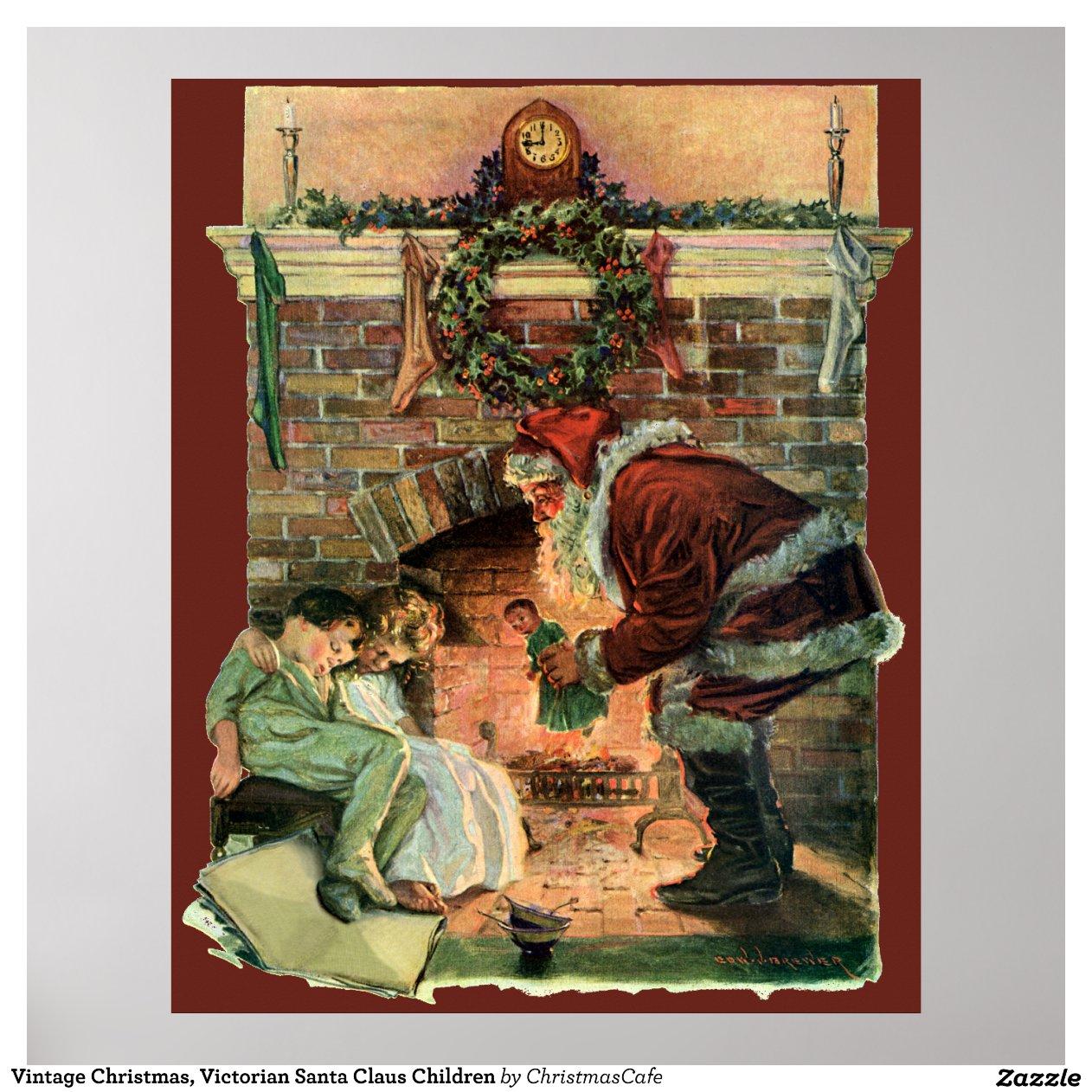 vintages weihnachten viktorianische poster zazzle. Black Bedroom Furniture Sets. Home Design Ideas