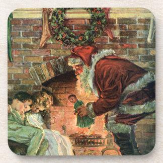 Vintages Weihnachten, viktorianische Untersetzer