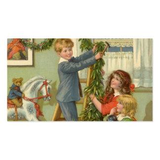 Vintages Weihnachten, viktorianische verzierende Visitenkarten