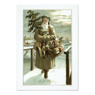Vintages Weihnachten, viktorianischer 12,7 X 17,8 Cm Einladungskarte