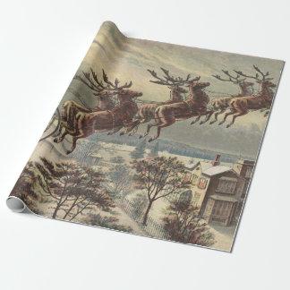 Vintages Weihnachten, viktorianischer Einpackpapier