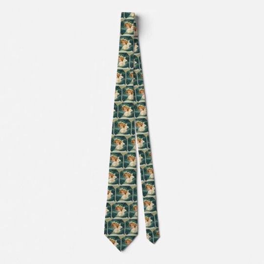Vintages Weihnachten, viktorianischer Engel mit Personalisierte Krawatten