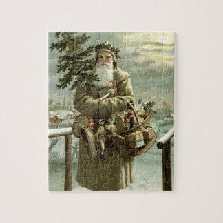 Vintages Weihnachten, viktorianischer Puzzle