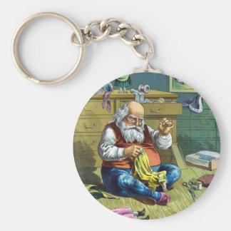 Vintages Weihnachten, Weihnachtsmann, der Schlüsselanhänger