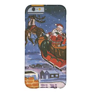 Vintages Weihnachten Weihnachtsmann, der seinen Barely There iPhone 6 Hülle
