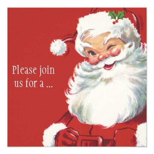 Vintages Weihnachten, Weihnachtsmann Individuelle Ankündigskarten