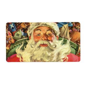 Vintages Weihnachten, Weihnachtsmann im Sleigh mit
