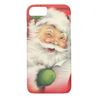 Vintages Weihnachten Weihnachtsmann iPhone 8/7 Hülle