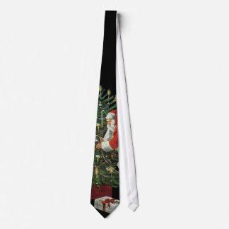 Vintages Weihnachten, Weihnachtsmann mit Individuelle Krawatte
