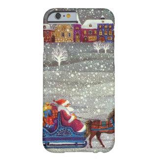 Vintages Weihnachten, Weihnachtsmann-Pferdeoffener Barely There iPhone 6 Hülle