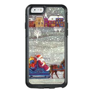 Vintages Weihnachten, Weihnachtsmann-Pferdeoffener OtterBox iPhone 6/6s Hülle