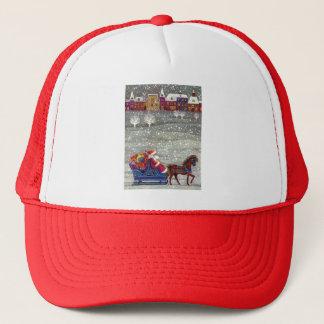 Vintages Weihnachten, Weihnachtsmann-Pferdeoffener Truckerkappe
