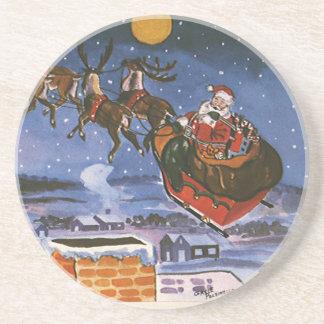 Vintages Weihnachten, Weihnachtsmann Untersatz