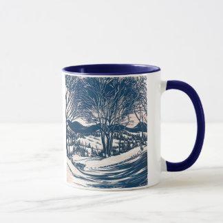 Vintages Weihnachten, Winter-Gebirgslandschaft Tasse