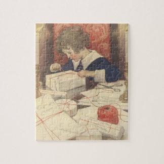 Vintages Weihnachtsabends-Kind, Jessie Willcox Puzzle