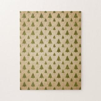 Vintages Weihnachtsbaum-Muster Puzzle