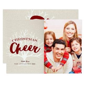 Vintages Weihnachtsbeifall-Skript-Feiertags-Foto 12,7 X 17,8 Cm Einladungskarte
